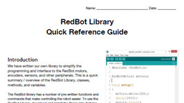 RedBot Library Quick References